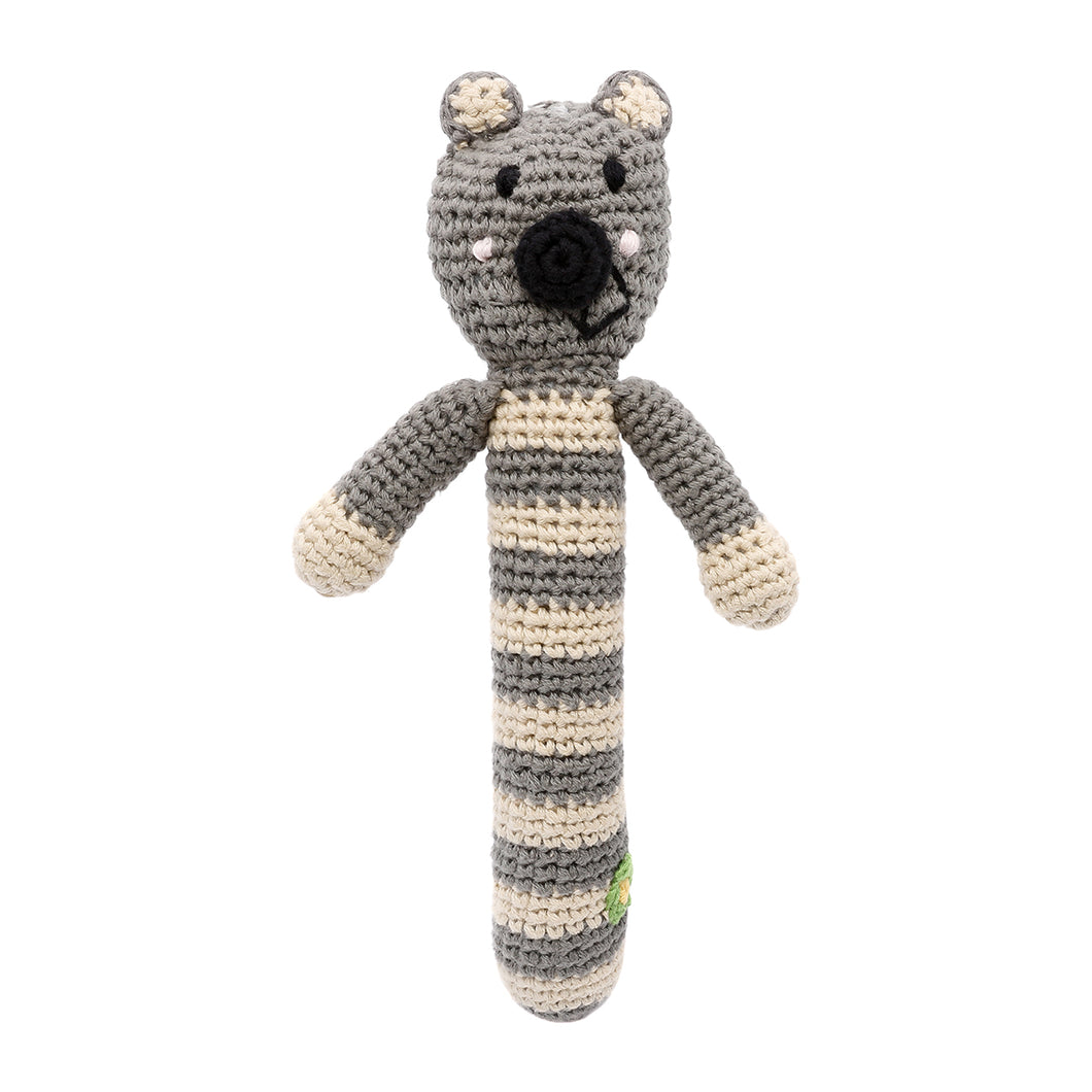 Pebble Rattle Stick – Panda Bear