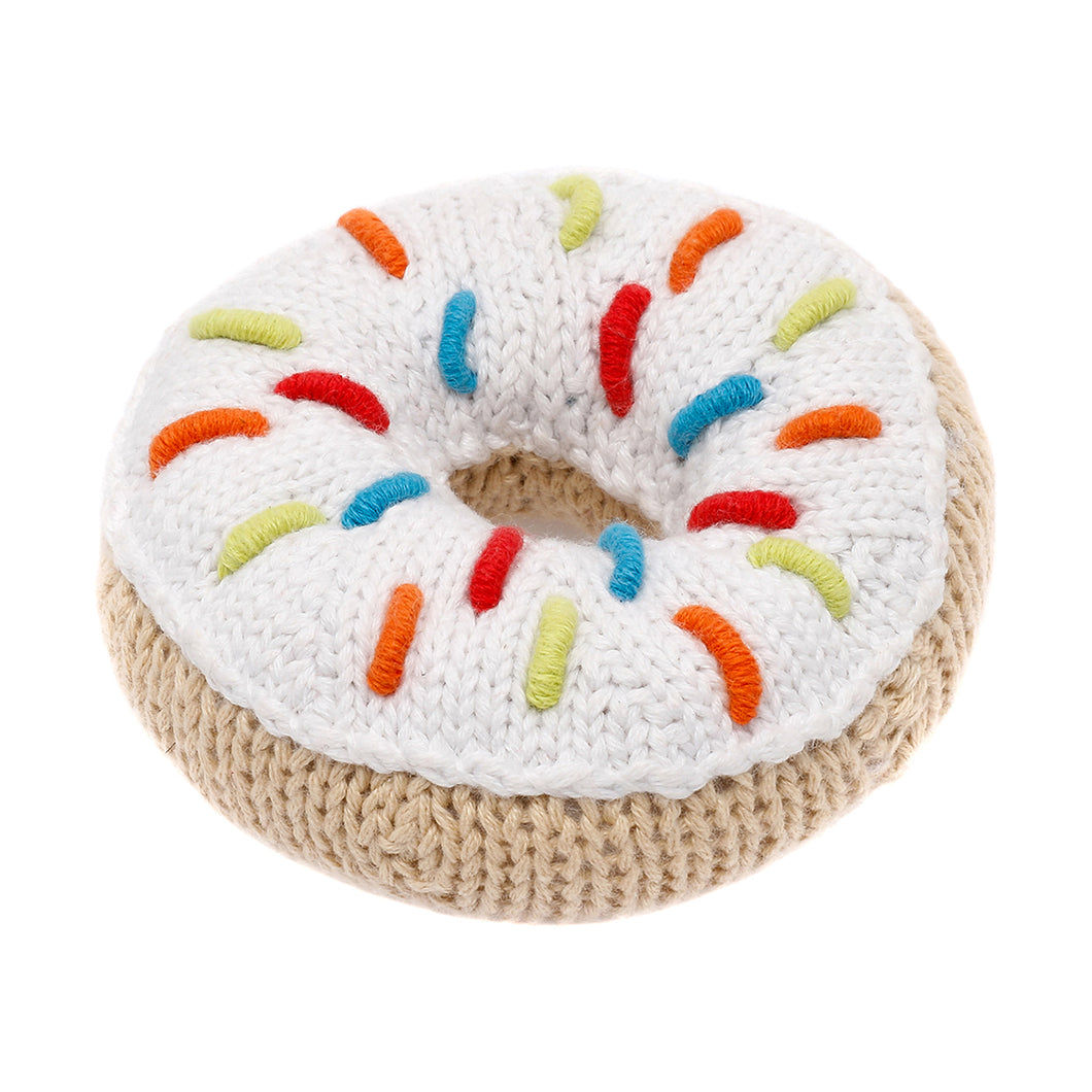 Pebble Food Rattle – Donut White