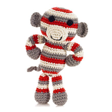 Pebble Rattle – Monkey Red 1