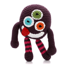 Pebble Rattle – Chubby Monster Silly Purple