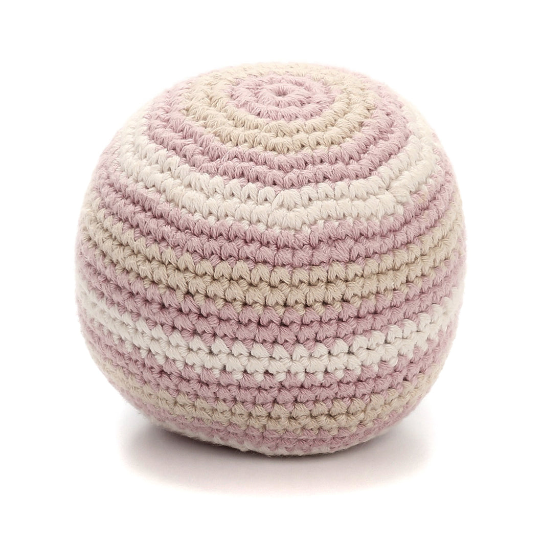 Pebble Organic – Rattle Ball Pink