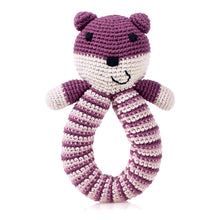 Pebble Organic – Bear Rattle Purple 1