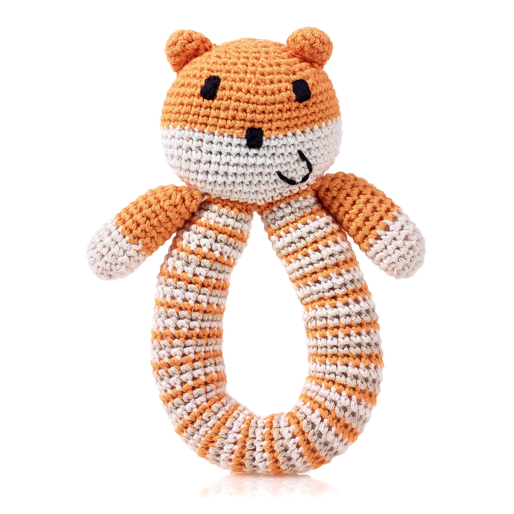 Pebble Organic – Bear Rattle Orange 1