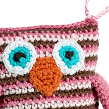 Pebble Rattle – Owl Pink Face