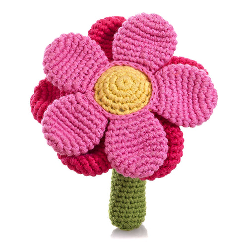 Pebble Rattle – Flower Pink