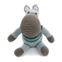 Pebble Rattle – Hippo Blue
