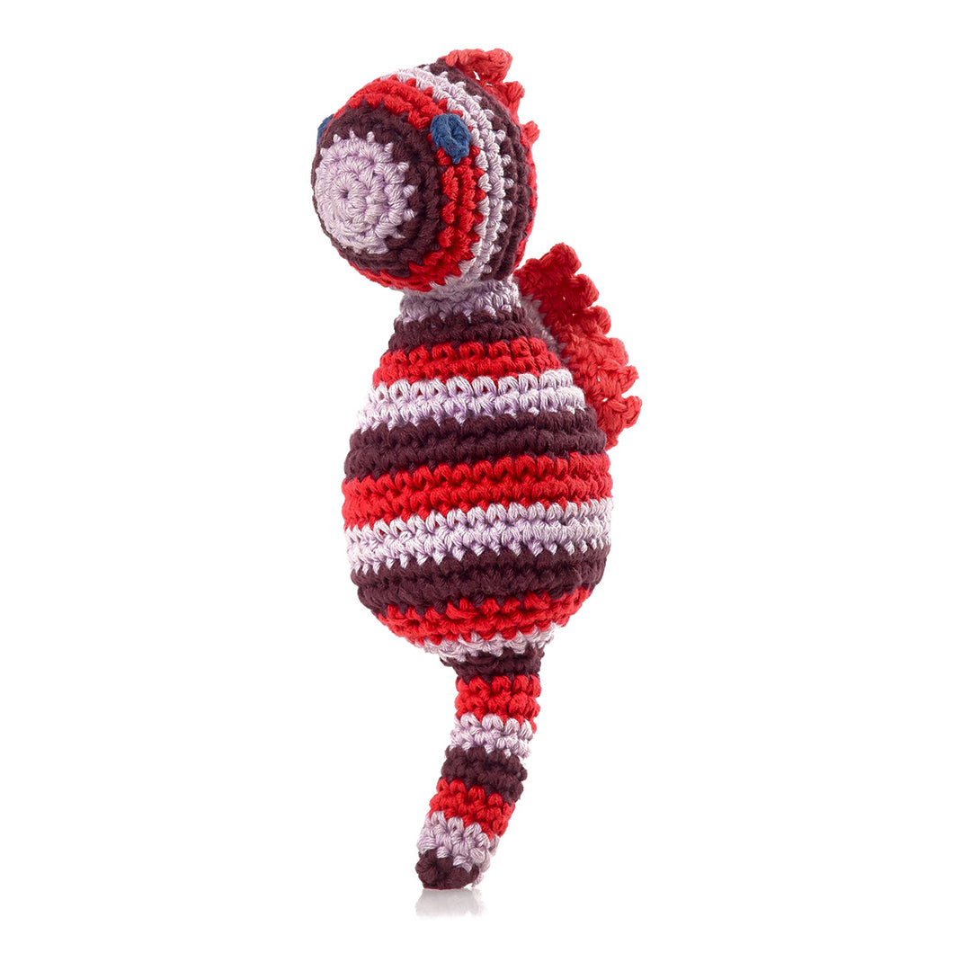 Pebble Rattle – Seahorse Red