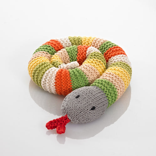Pebble Rattle – Snake Green