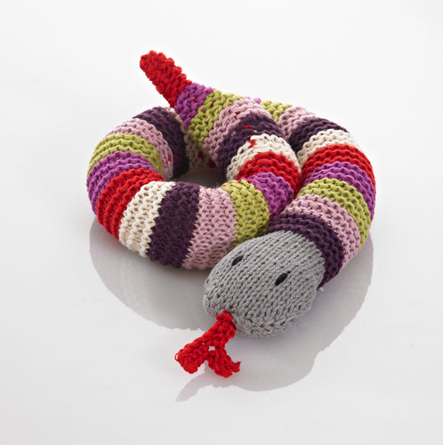 Pebble Rattle – Snake Purple