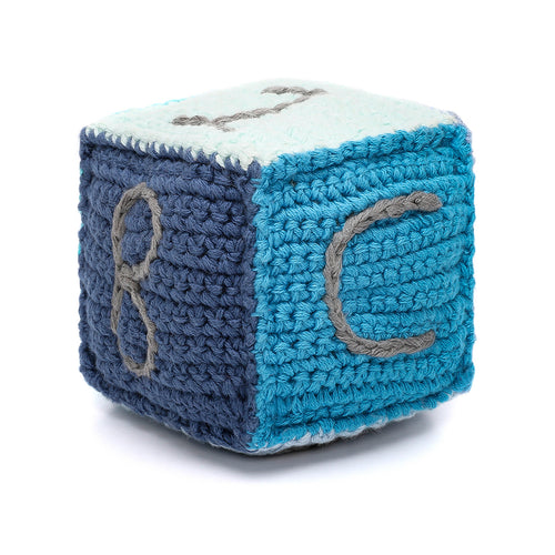 Pebble Rattle – Toy Block Blue