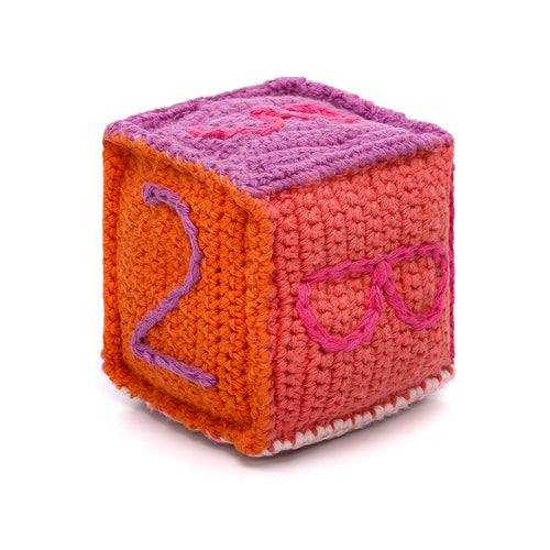 Pebble Rattle – Toy Block Pink