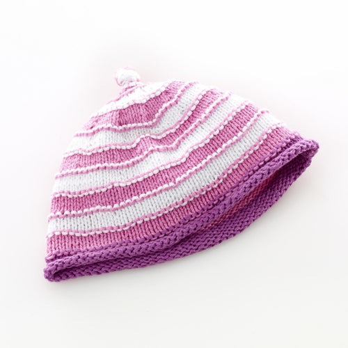 Pebble Hats – Pink/White