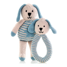 Pebble Organic – Motif Bunny Star Blue & Rattle
