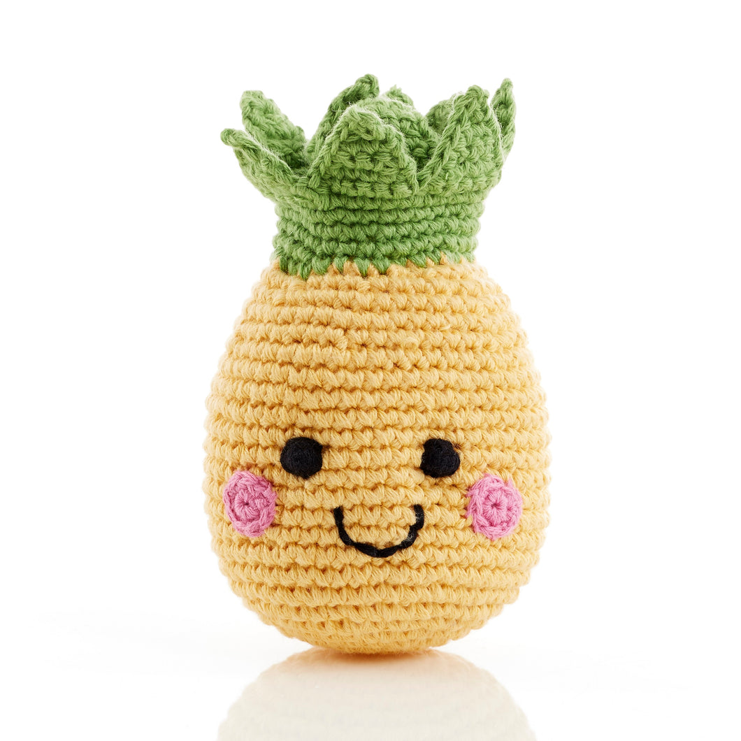 Pebble Food Rattle – Friendly Pineapple