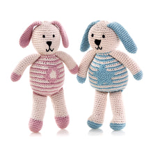 Pebble Organic – Motif Bunny Star Blue & Flower Pink