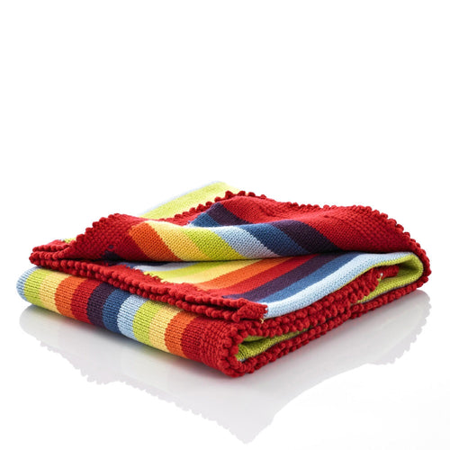 Pebble Nursery - Blanket Rainbow Multi