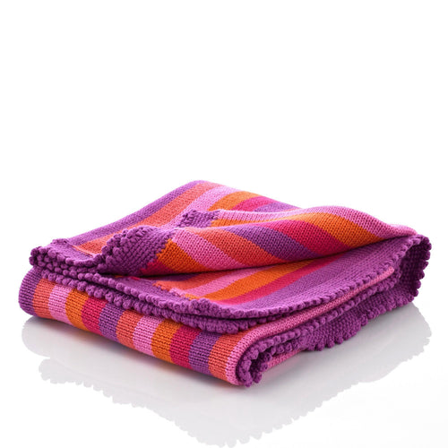Pebble Nursery – Blanket Pink Stripey