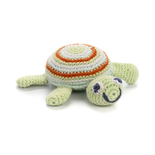 Pebble Rattle – Turtle Green 1