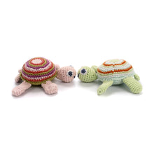 Pebble Rattle – Turtle Green and Pink