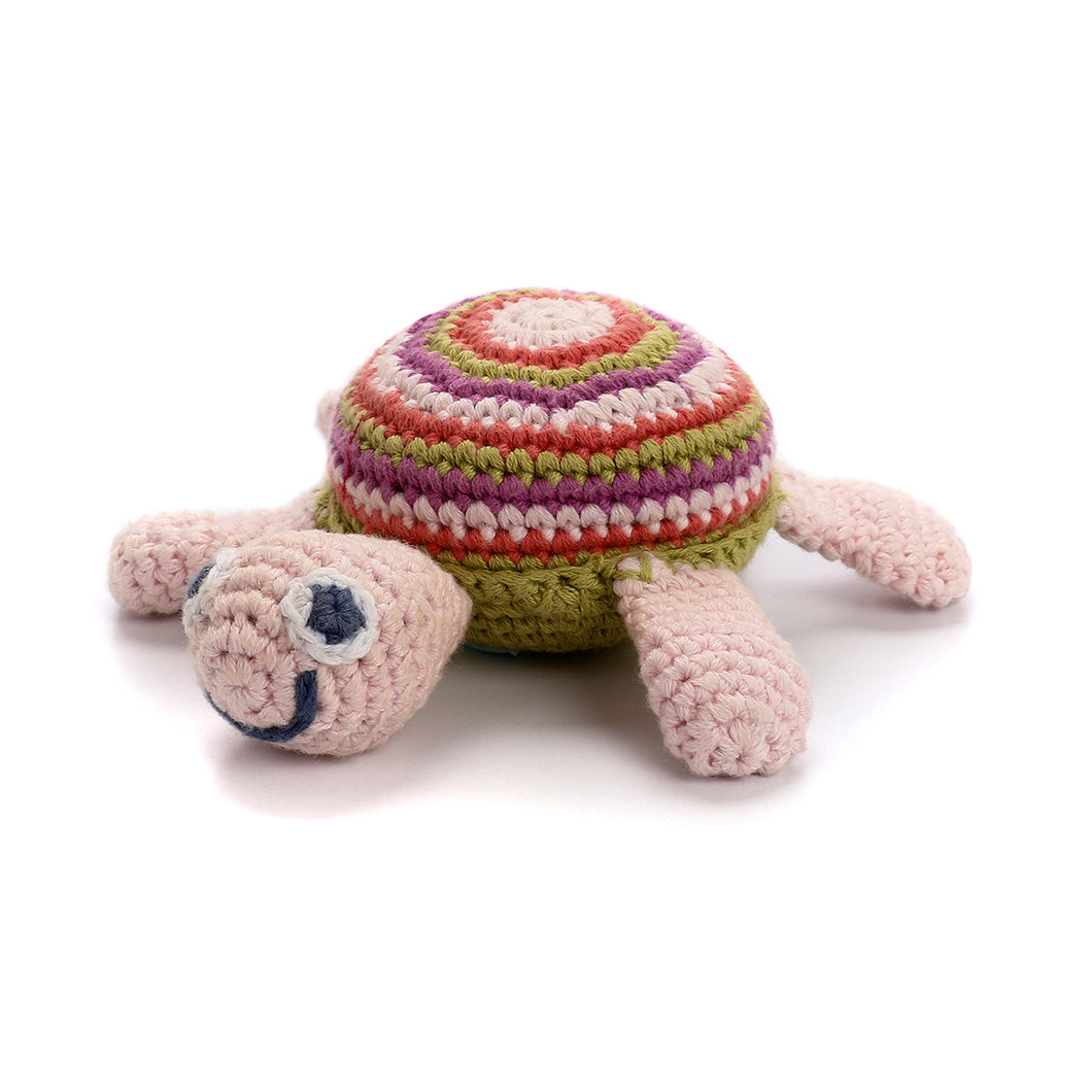 Pebble Rattle – Turtle Pink 1