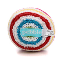 Pebble Rattle – Stripey Ball White 3