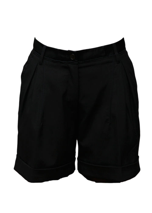 Luxury DOLCE & GABBANA Black Wool Shorts