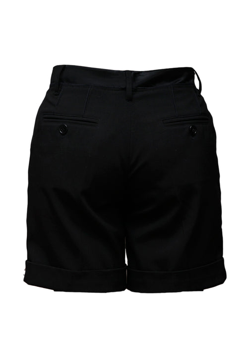 Black Wool Shorts