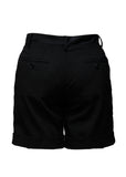 Back view of Luxury DOLCE & GABBANA Black Wool Shorts