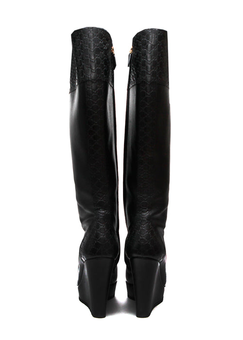 Pre owned GUCCI Black Knee Boots