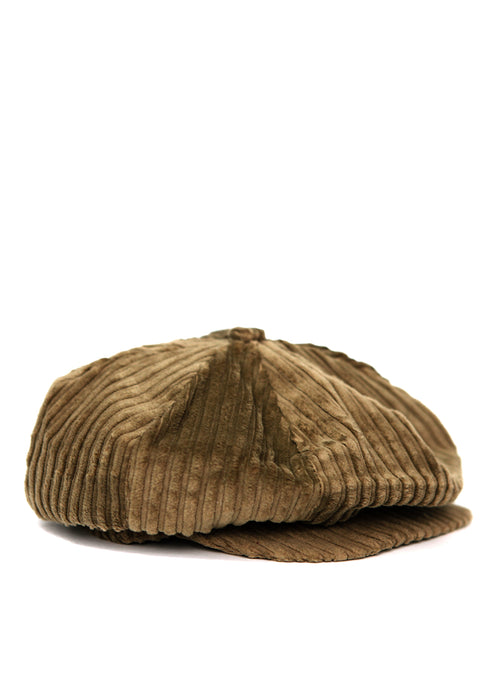 Dark Beige Velvet Cap created by Azerbaijan fashion designer