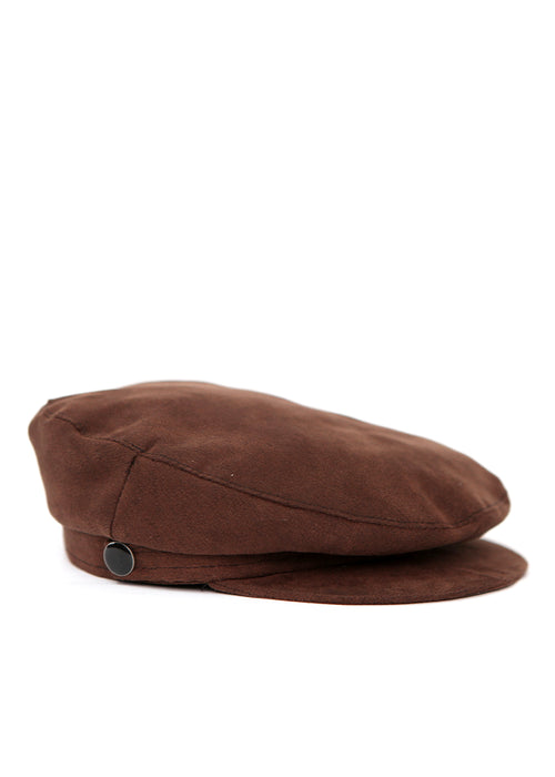 Brown Cap with Buttons