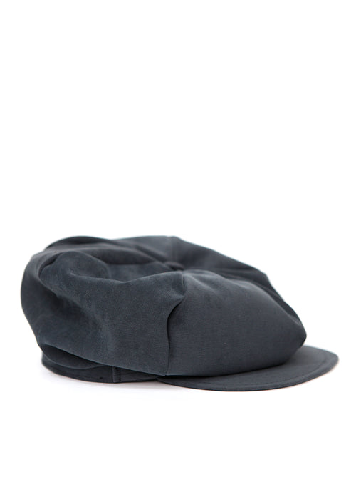 Navy Blue Velvet Cap created by Azerbaijan fashion designer
