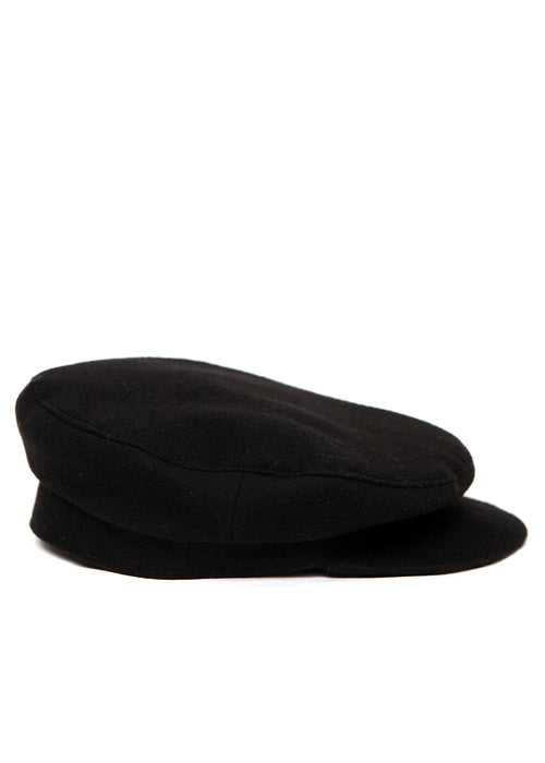 Black Wool Cap by Azerbaijani designer