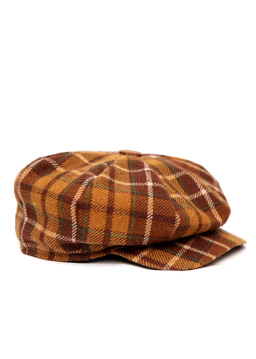 Brown Plaid Cap created by Azerbaijan fashion designer