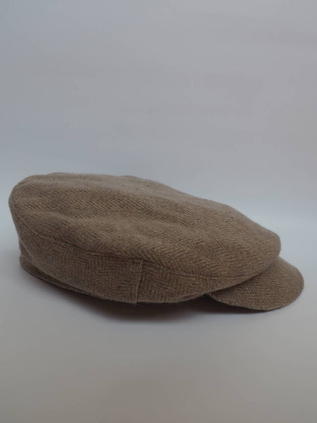 right view of Light Beige Cap created by Azerbaijan fashion designer