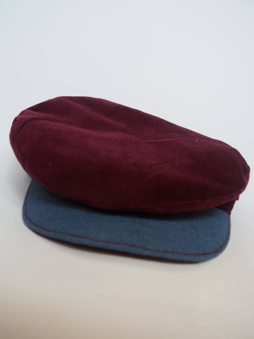 Burgundy Velvet Cap created by Azerbaijan fashion designer