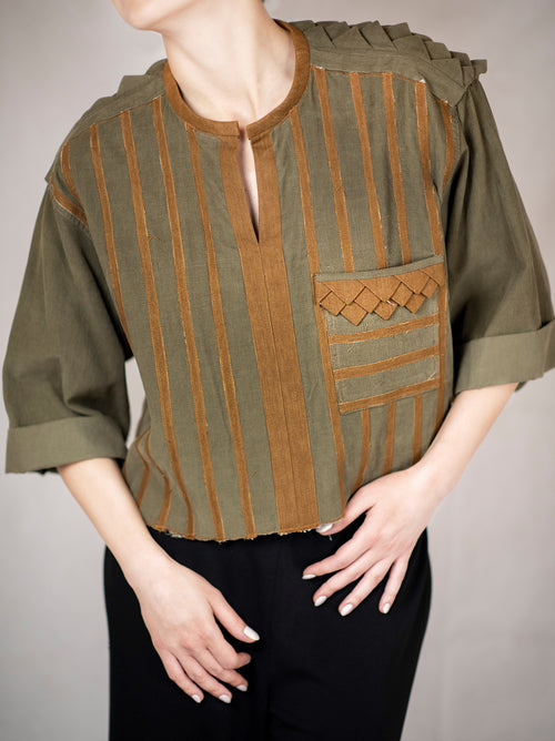 Velvet Embroidered Shirt by Azerbaijani designer RENARA