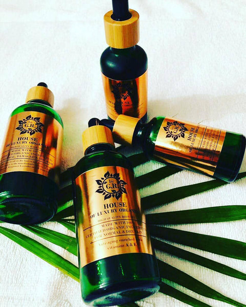 House of Luxury Organics Body Oil for normal & dry skin