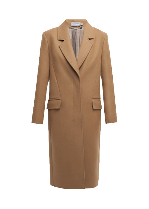 One breasted wool Camel coat