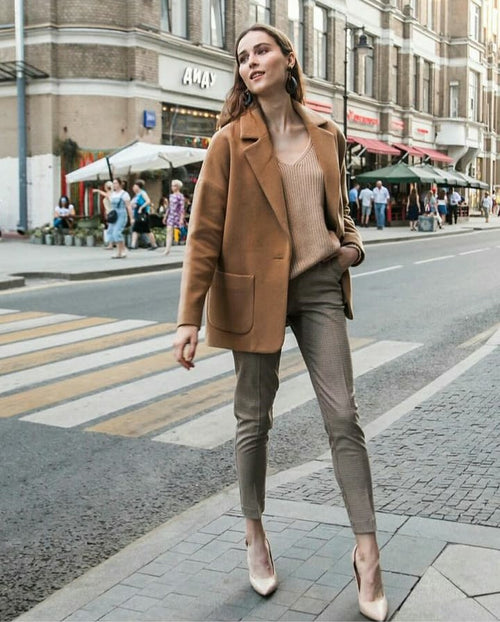 Weekend oversize beige coat jacket