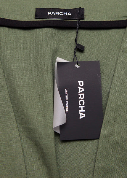 logo of PARCHA on Dark Green Suit created by Azerbaijan designer