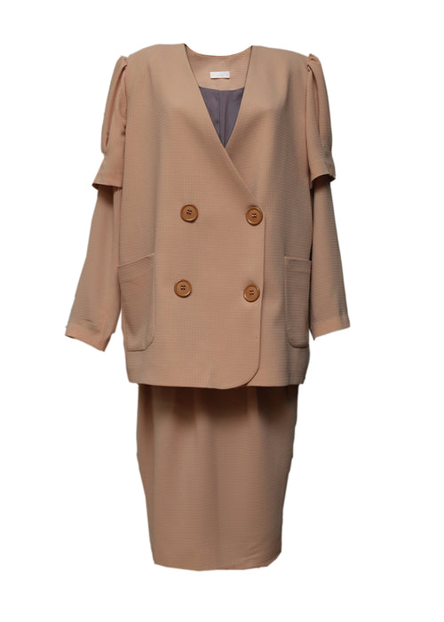 Jacket with Skirt in Pale Pink