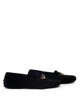 Luxury TOD'S Black Suede Moccasins