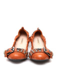 Pre owned MIU-MIU Beige Colored Flats