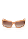 Pre owned Beige Chanel Sunglasess with framed Square and light brown gradient lences