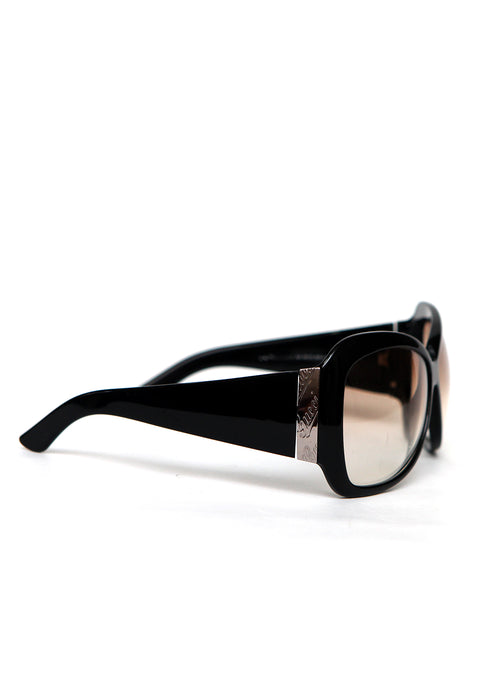 right view of pre owned GUCCI Black Shaped Sunglasses