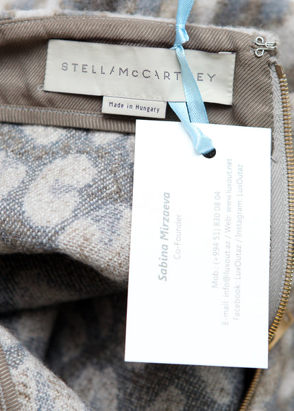 logo on Luxury STELLA MCCARTNEY Wool Mini Skirt