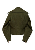 back view of Luxury DSQUARED2 Wool Biker Jacket