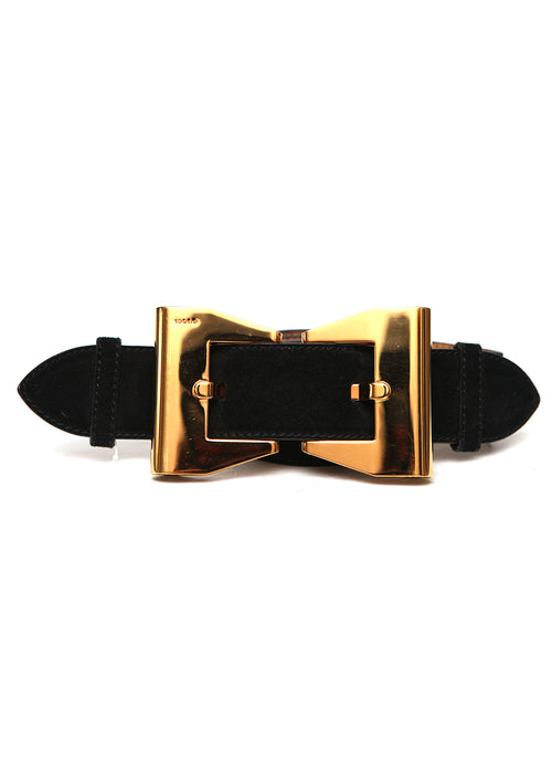 Pre owned GUCCI Black Suede Belt