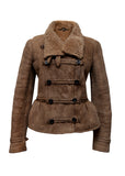 Fashion BURBERRY Brown Shearling Coat